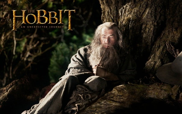 the hobbit an unexpected journey gandalf smoking