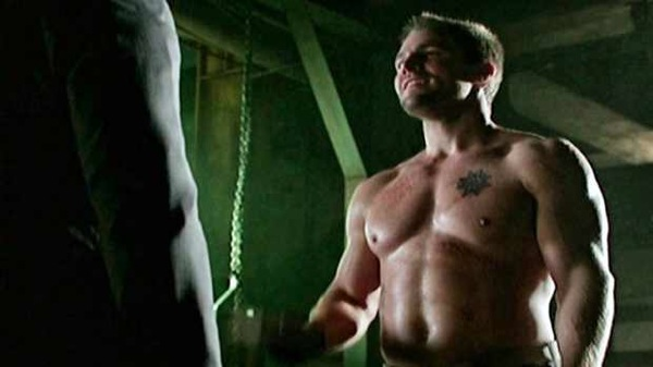 Arrow- Episode 10 Burned Stephen Amell Shirtless