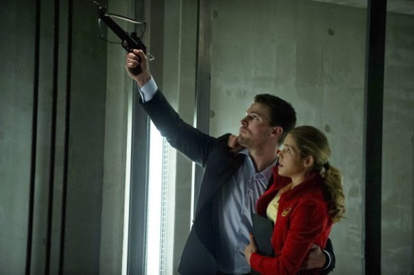 Arrow Season 1 Episode 22  Darkness On The Edge of Town Oliver and Felicity